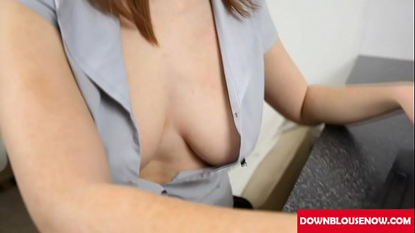 Saggy, Red head, Red, Downblouse, Downblous